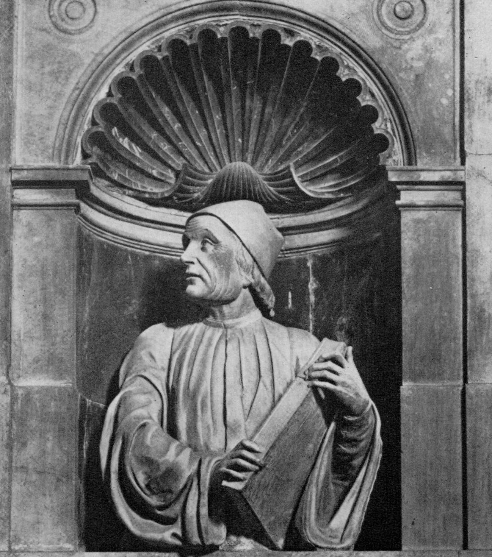 Busto di Marsilio Ficino, Andrea di Piero Ferrucci (1522). Firenze, Santa Maria dei Fiore