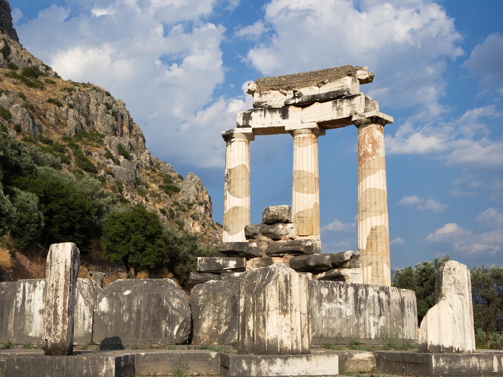 Delphi Oracles - Temple Pillars