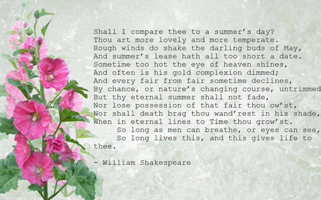 What is in a Shakespeare Sonnet with Philip Marvin – 26 September 2021 – 3pm-4.30pm (UK time) – via Zoom – £15